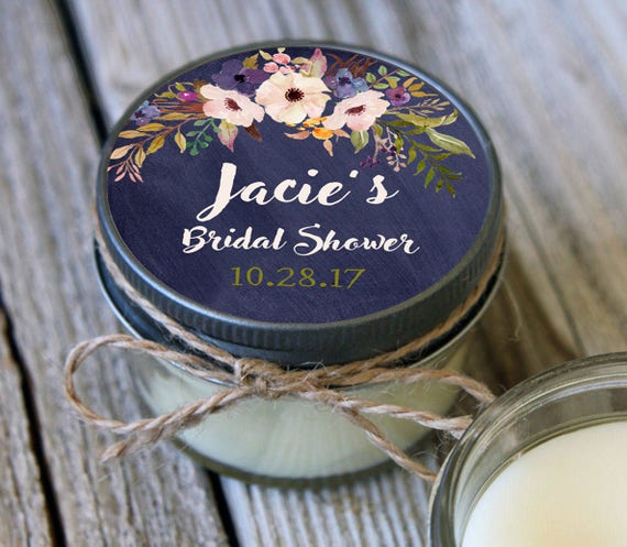 36 - 4 oz Soy Candle Bridal Shower Favors//FED EX California shipping