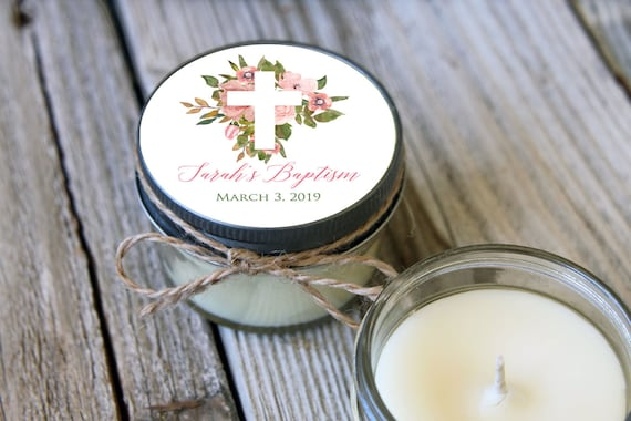 Baptism Candle Favors   Set of 12