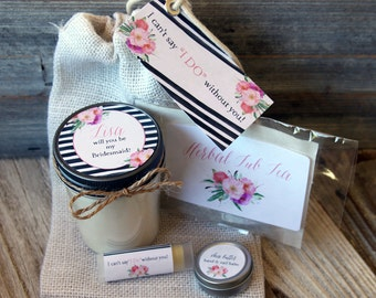 Will you be my Bridesmaid Gift // Will you be my Maid of Honor Gift // Bridesmaid Candle// Bridemaid Proposal Gift // Bridesmaid Gift Idea