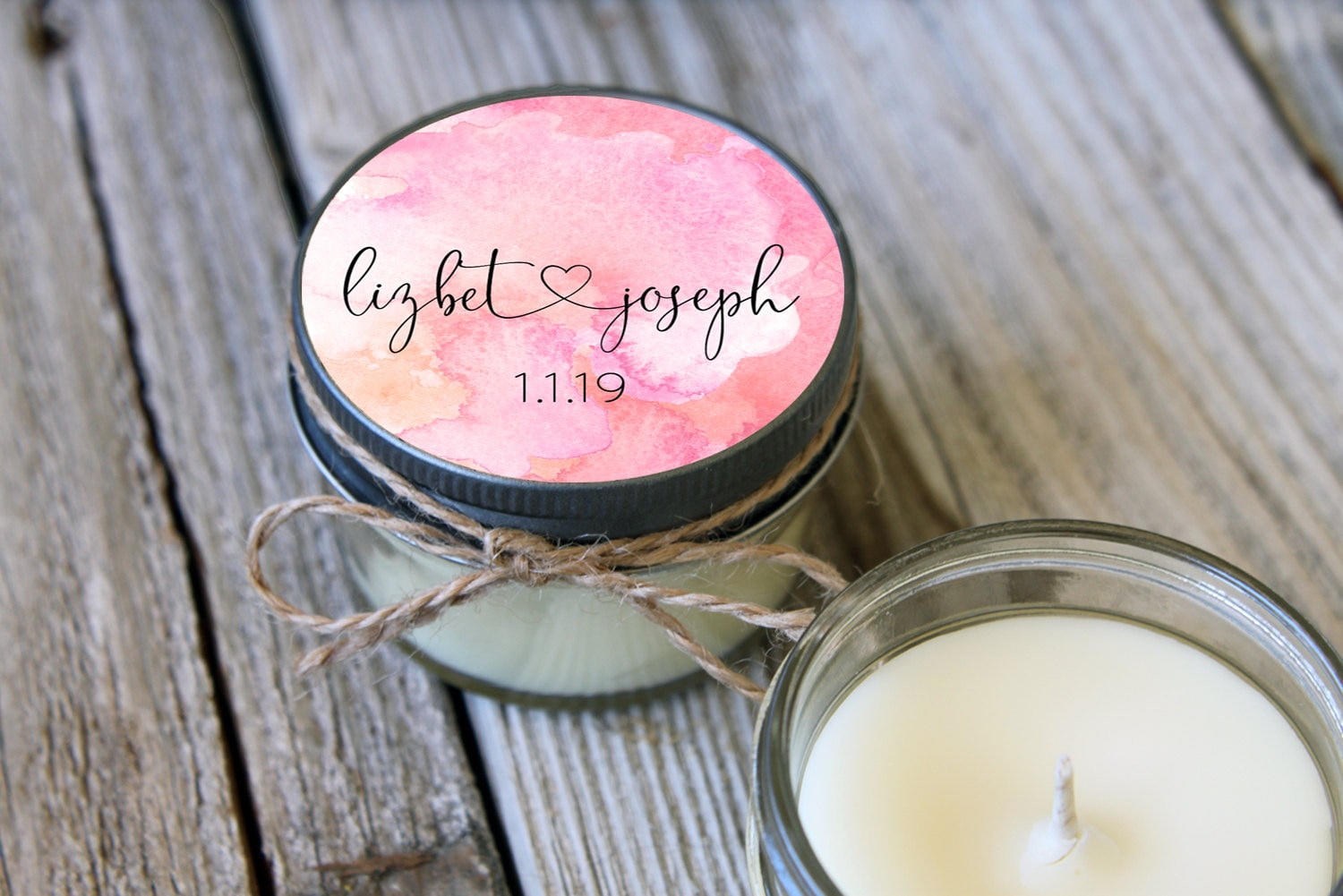 Rose Gold Wedding Favors - Set of 12 - 4 oz Soy Candle Wedding ...