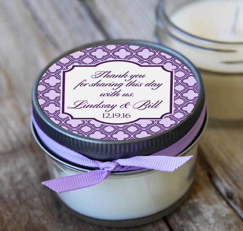 12-4 oz Wedding FavorLavender Wedding FavorSoy Candle FavorPersonalized Bridal Shower FavorShower FavorCandle Favors
