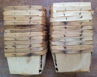 24  Vintage Berry Box Wood  Berry Quart Baskets Crate Box USA MADE Americana Country