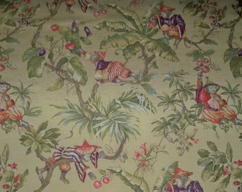Scalamandre Chinoiserie Chiyomi Floral Toile Fabric 17 Yard Etsy