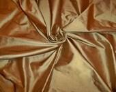 SCALAMANDRE SHANGRI-LA Gold Bronze Silk Fabric 10 Yards
