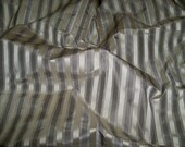 SCALAMANDRE SHIRRED STRIPE Silk Taffeta Fabric 21 Yards Platinum Silver Gray