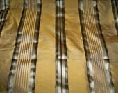 STROHEIM ROMANN MELROSE Silk Taffeta Stripes Damask Fabric 10 Yards Bronze