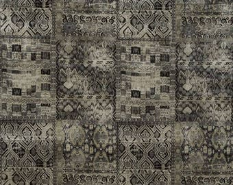 KRAVET COUTURE Lee JOFA Ornate Velvet Fabric 10 Yards Black Multi