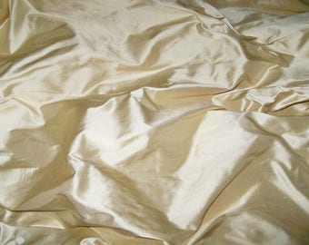 SCALAMANDRE SHANGRI-LA Silk Fabric 10 Yards Mellow Yellow