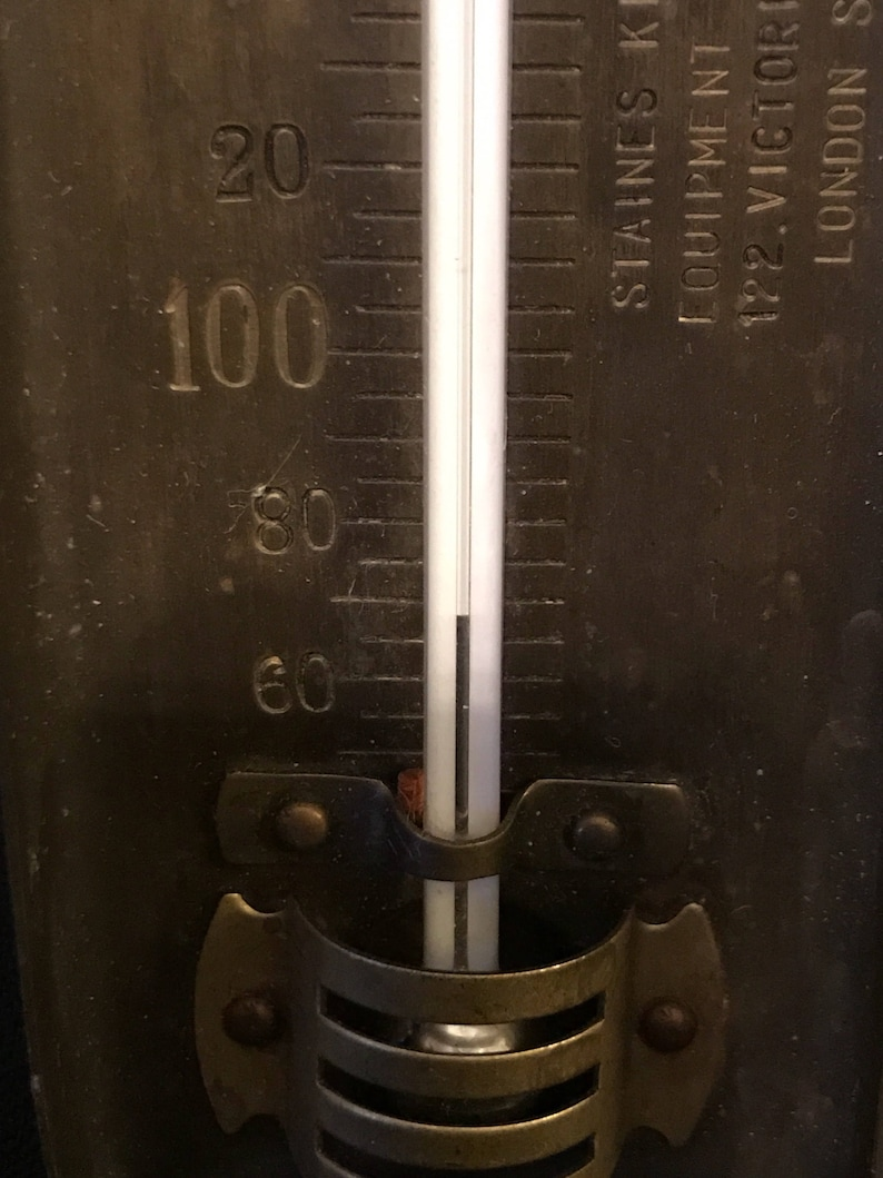 Vintage Thermometer Antique Thermometer Brass Candy Utensil Brass Kitchen Item Staines Kitchen London FREE SHIPPING