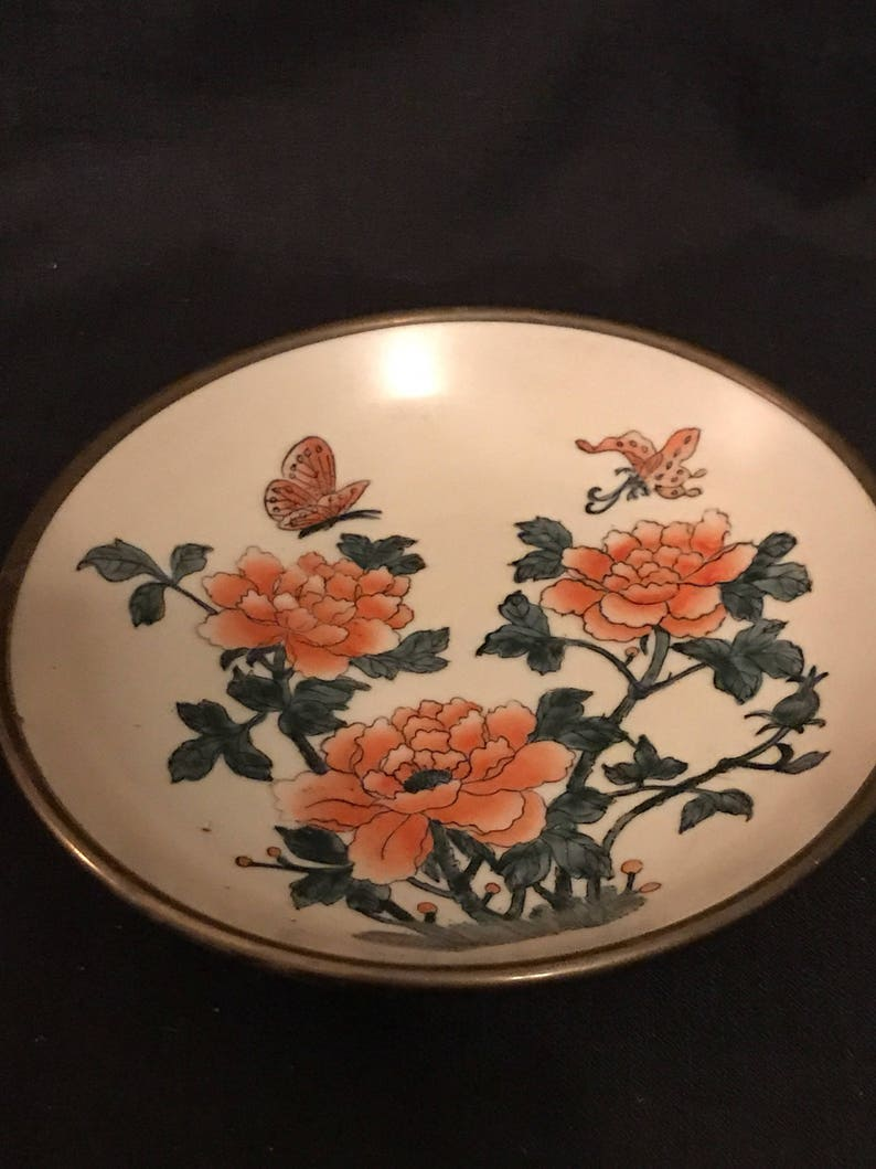 Antique Floral Handpainted Oriental Bowl Other Asian Antiques Antiques