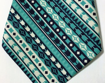 Over the collar Dog bandana/ tribal dog bandana/ blue dog bandana/ tribal/ pet accessory/ dog scarf/ collar bandana/ dog collar bandana/ dog