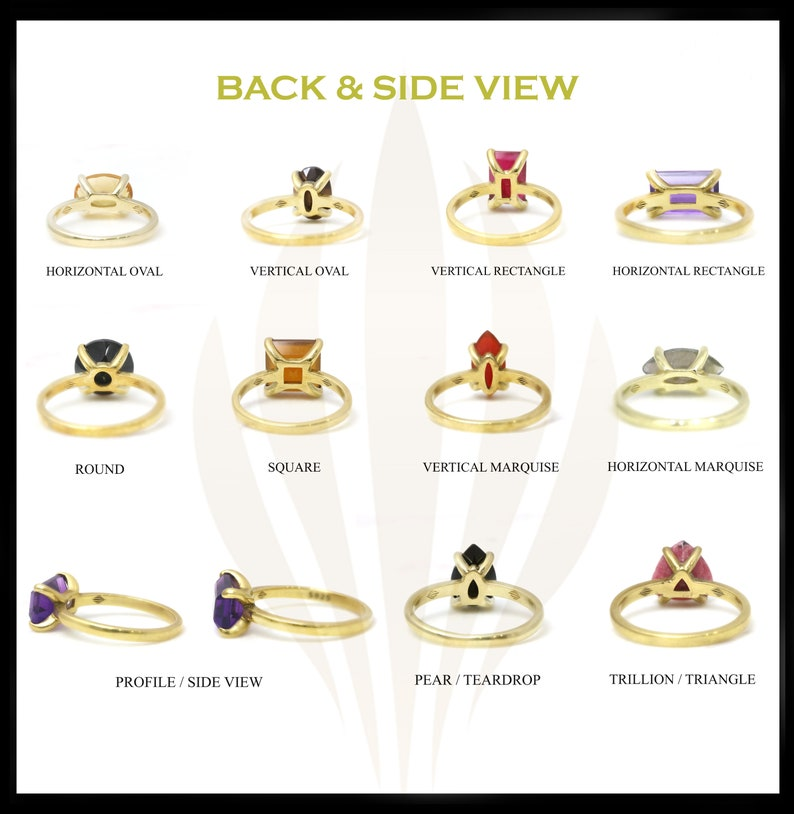 Rose gold ring,rainbow moonstone ring,square ring,prong ring,solitaire ring,gemstone ring,semiprecious ring,pink gold ring