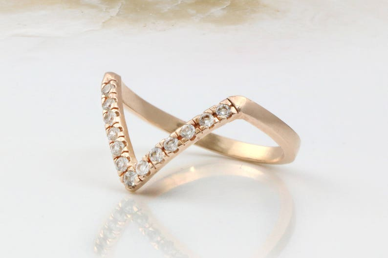 Wishrocks Round Cut Brown Cubic Zirconia Cluster Ring in 14K Rose Gold Over Sterling Silver