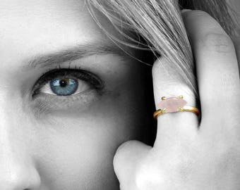 ETSY BIRTHDAY SALE - Rose quartz ring,gold ring,gold filled ring,solid gold ring,gemstone ring,marquise ring,pink ring