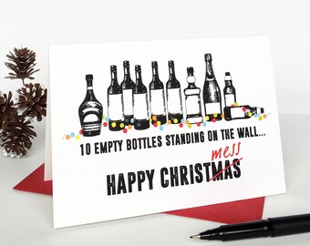 Happy Christmess Christmas Card - Funny Christmas Card - Christmas Card for Boyfriend - Holiday Card - Christmas Card Pack - Xmas Card
