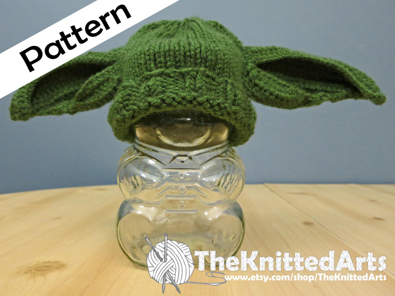 Newborn Knit PDF Hat Pattern Yoda Style Ears | Etsy