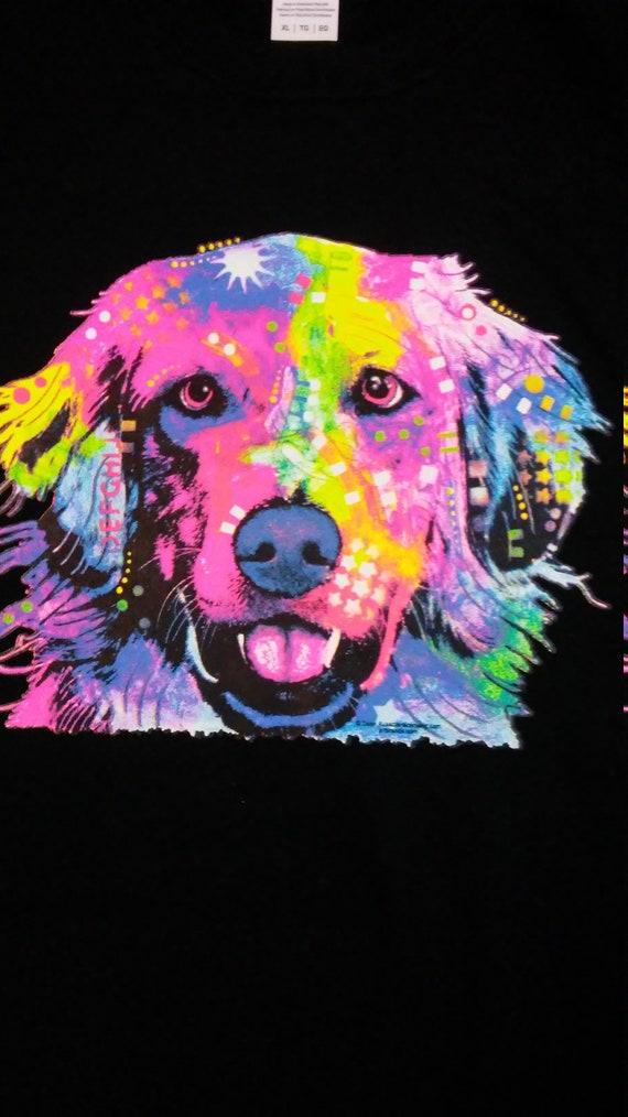 Dean Russo Lab Love Chocolate Yellow Black Lab Patchwork Dog T-Shirt