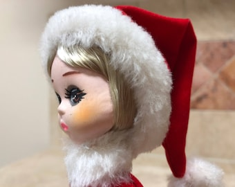 Vintage Big Eye Bradley Doll Miss December - Original Tag