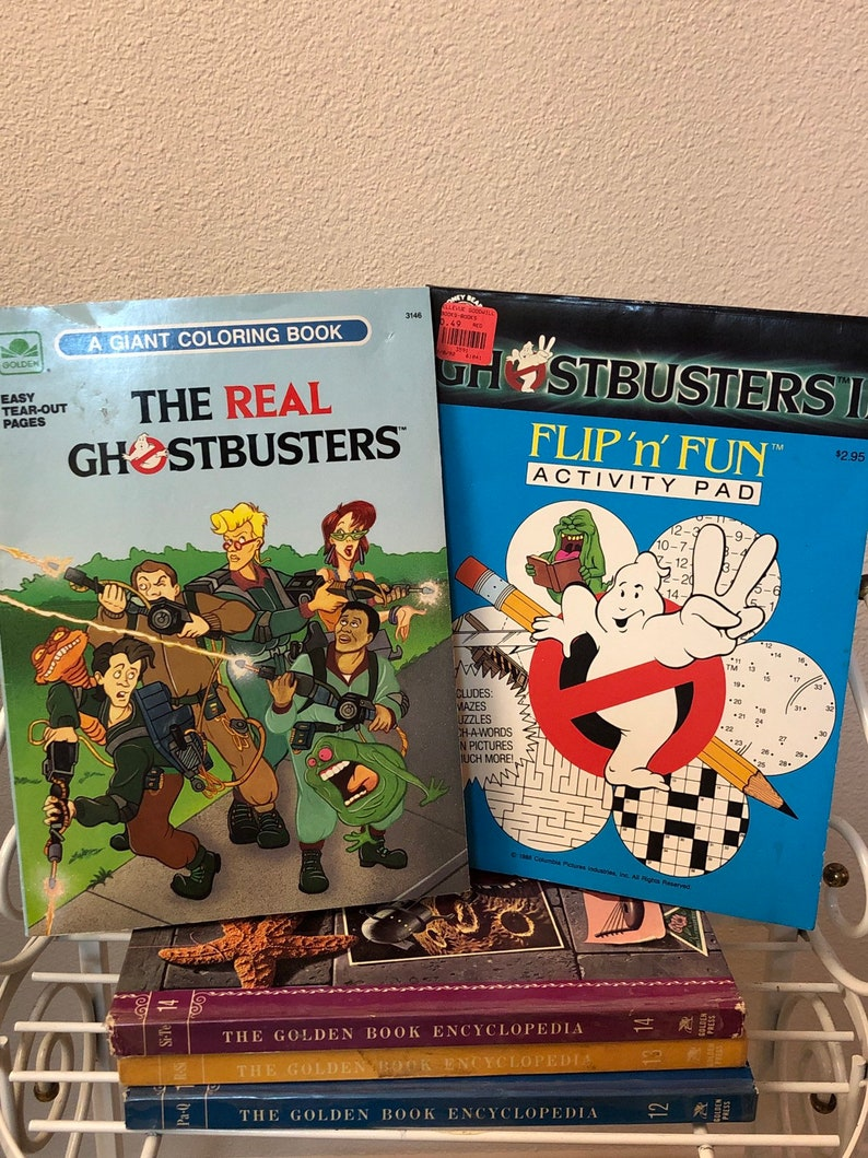 Vintage Ghostbusters Coloring Book & Activity Book