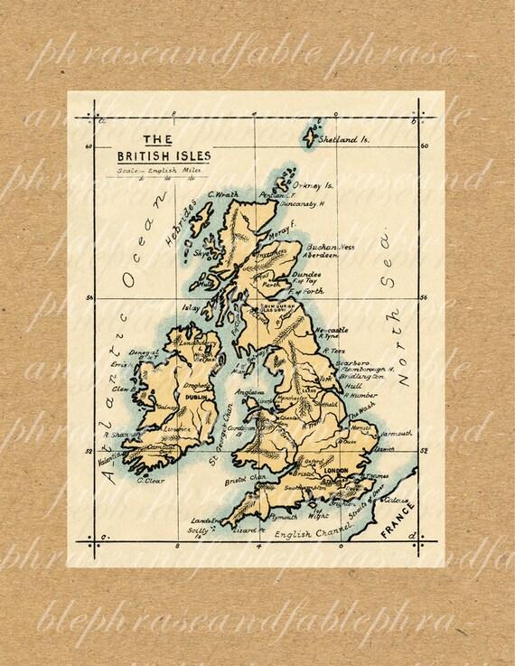 Map of the british isles 360 england old world map printable etsy image 0 gumiabroncs Choice Image