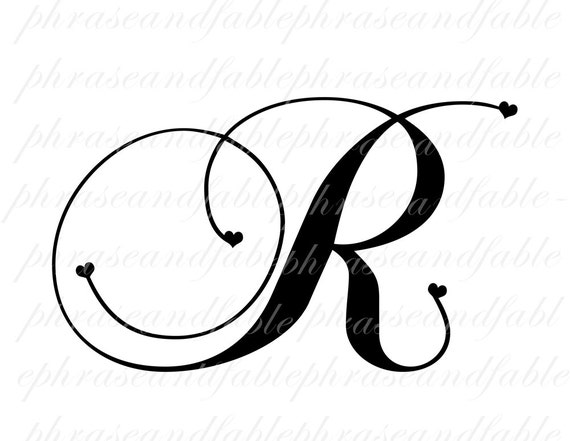 Letter R Hearts 288 Digital Download Alphabet Initial Name Etsy