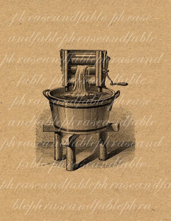 Laundry 224 Housekeeping Clean Water Apparatus Machine Bucket | Etsy