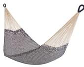 Cotton Rope Hammock: Montauk (Navy + White) | Free Shipping