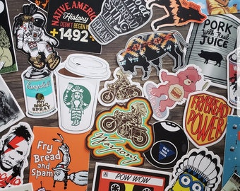 VINYL STICKERS! 7 for 20, *YOUR Choice!!* Choose from my website--> www.stevenpauljuddart.com Before placing your order. Put in note section