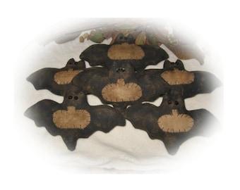 Primitive Bat Punkin Ornie/Bowl Fillers E-Pattern