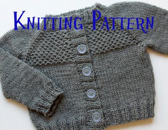 PDF Knitting Pattern Honeycomb Cardigan Infant Sweater