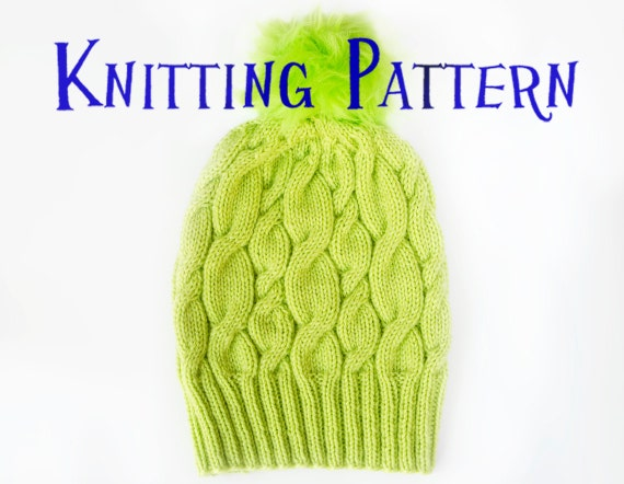 26a4e82f9e4 PDF Knitting Pattern Neon Hat Beanie Knitting Pattern Knit
