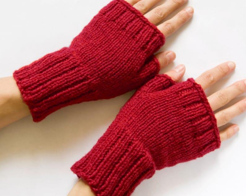 PDF Knitting Pattern Fingerless Mittens Knit Fingerless | Etsy