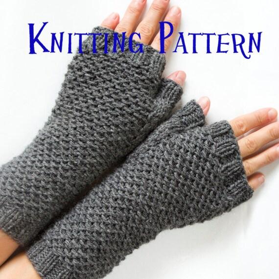 Pdf Knitting Pattern Honeycomb Mittens Knit Fingerless Etsy