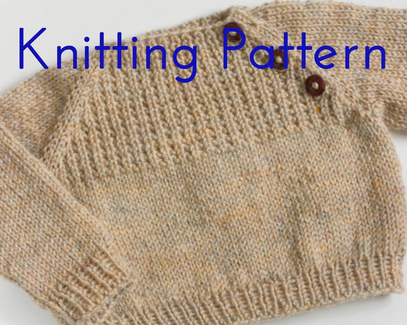 7652c6e8e PDF Knitting Pattern Oatmeal Sweater Infant Pullover Baby