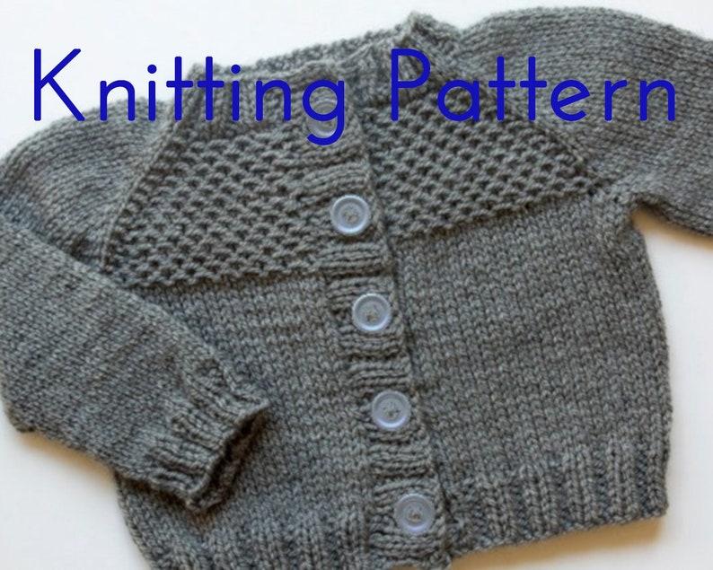 8fe02ce2f4b4 PDF Knitting Pattern Honeycomb Cardigan Infant Sweater
