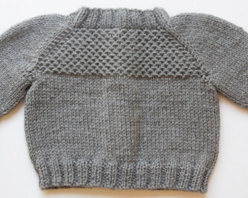 a24a4610e PDF Knitting Pattern Honeycomb Cardigan Infant Sweater
