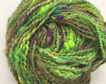 Renewal | handspun art yarn | Bulky | Textured | 207 yard 8 oz mega skein