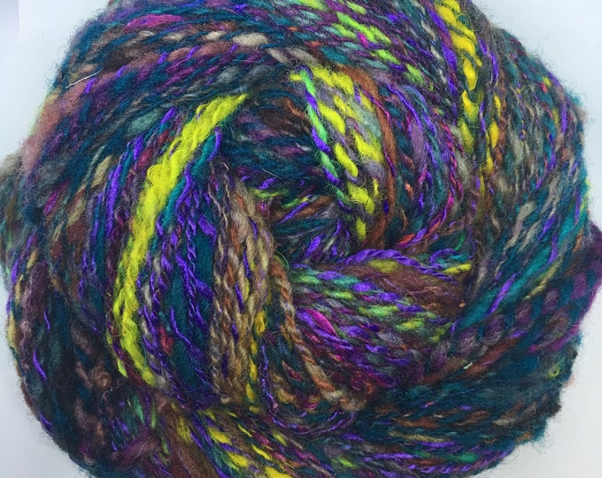 Jodha | Mini Art Yarn | Handspun Art Yarn | Textured Fingering Weight | Unique Textured Mini Handspun Art Yarn | Soft | Dramatic
