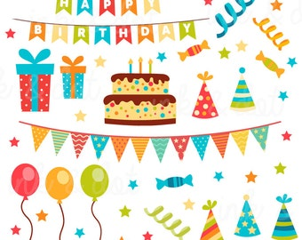 happy birthday clip art boys birthday clipart birthday cake etsy