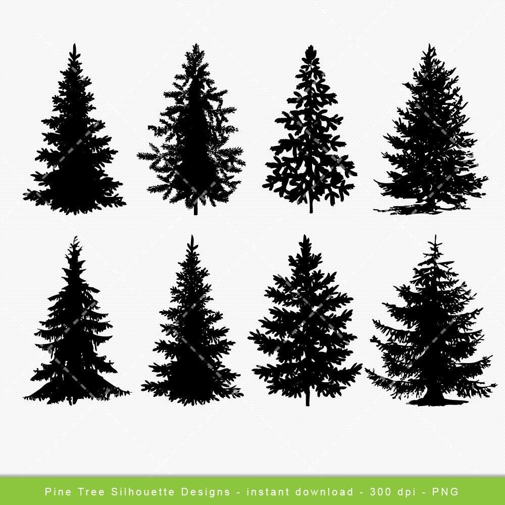 tree clip art pine tree digital clipart festive christmas etsy