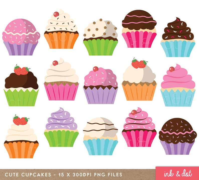Cute Cupcakes Cakes Muffins Cup Assorted