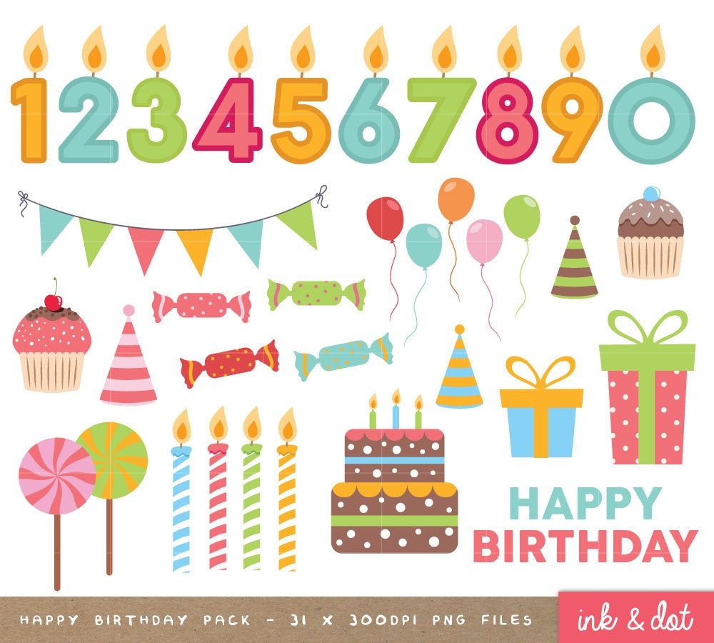 Happy Birthday Clip Art Birthday Clipart Scrapbook