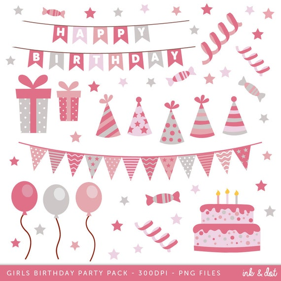 Amazing Happy Birthday Clip Art Girls Birthday Clipart Birthday Cake Etsy Funny Birthday Cards Online Bapapcheapnameinfo