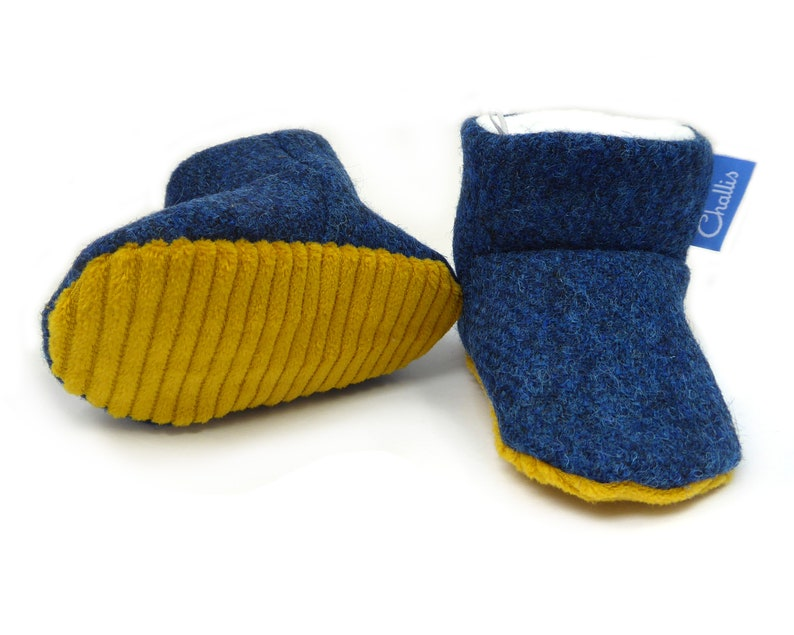 9708e674f988c Tweed Baby Booties, Stay On Booty, Fleece Lining, Baby shoes, Ankle Boots,  Boys Clothes, Warm Baby Clothing, Winter Boots, Baby Gift, harris