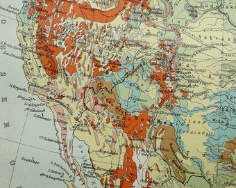 American geology map | Etsy