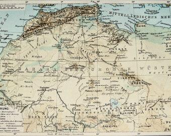 Sahara desert map | Etsy