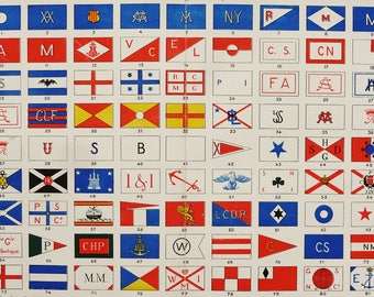 Naval flags etsy 1900 antique lithograph of shipping company flags naval flags maritime flags navigation publicscrutiny Images