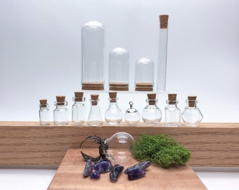 Mini Bottles and Cloche Sample Pack, Deluxe Set, 13-14 pieces Included (ring optional)