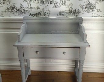 Dollhouse miniature hand painted Side Table