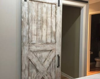 Custom Bottom X Sliding Barn Door : barn doors interior - zebratimes.com